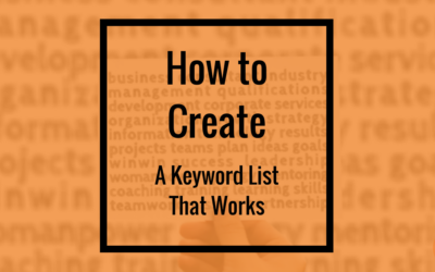 How to Create a Keyword List That Works